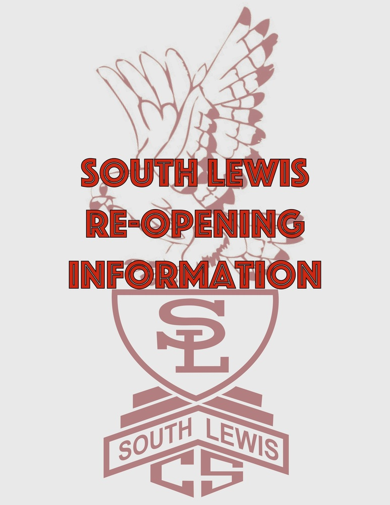 South Lewis Releases Re-Opening Information