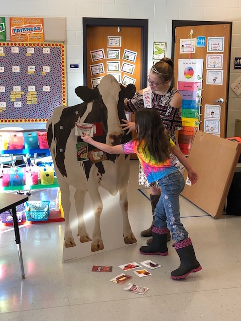 Pin the dairy products on the cow!
